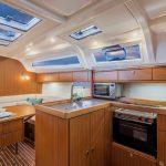 Cruising sailing yacht: galley